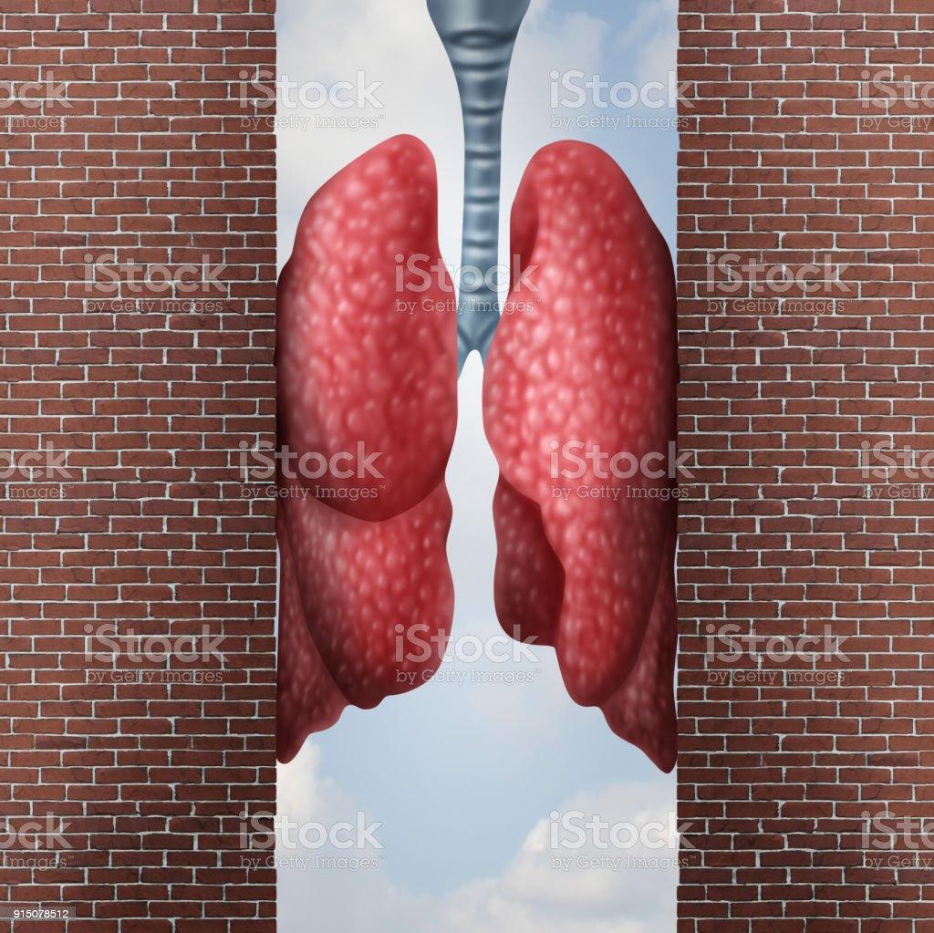 Asthma Health Problem stock photo