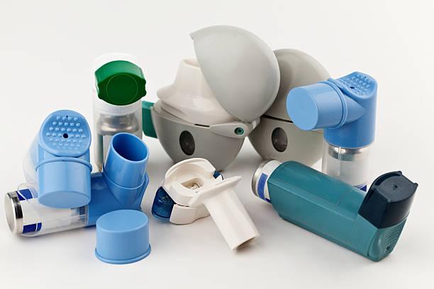 Asthma Inhalers stock photo