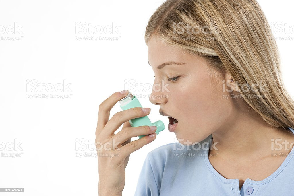 Asthma sufferer stock photo