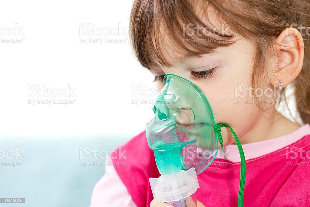 Asthma treatment royalty-free stock photo