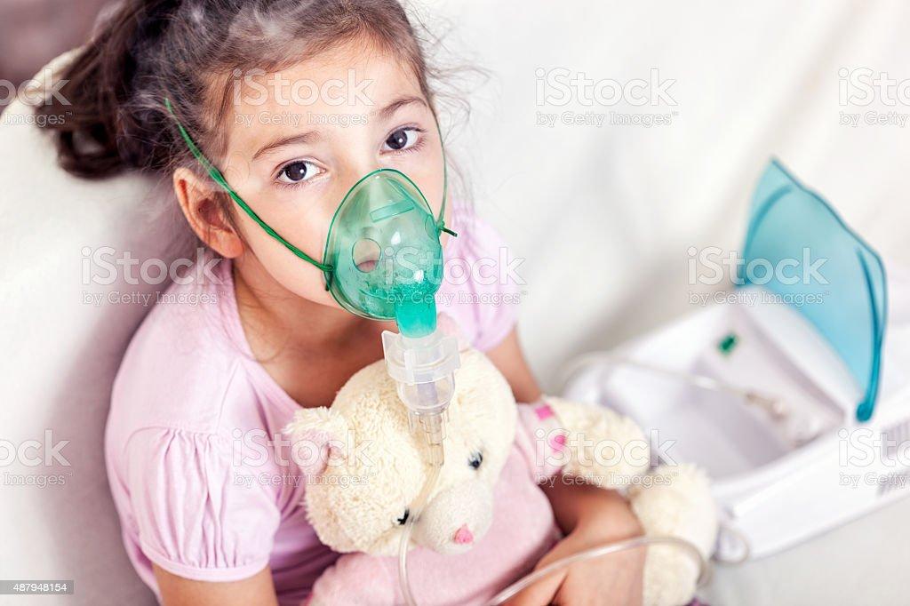 Tratamento de asma - foto de acervo