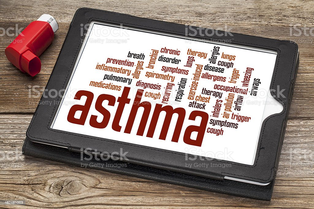 asthma word cloud stock photo