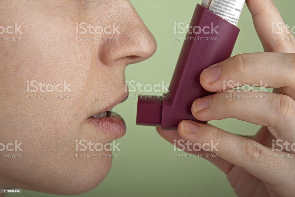 Asthmatic inhaler royalty-free stock photo