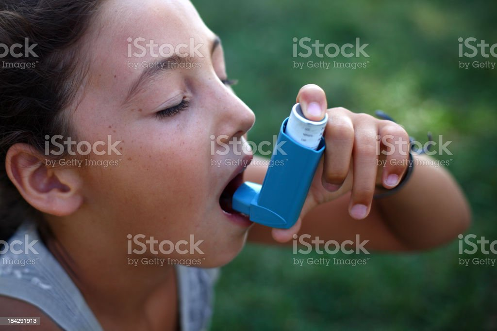 Asthmatic royalty-free stock photo