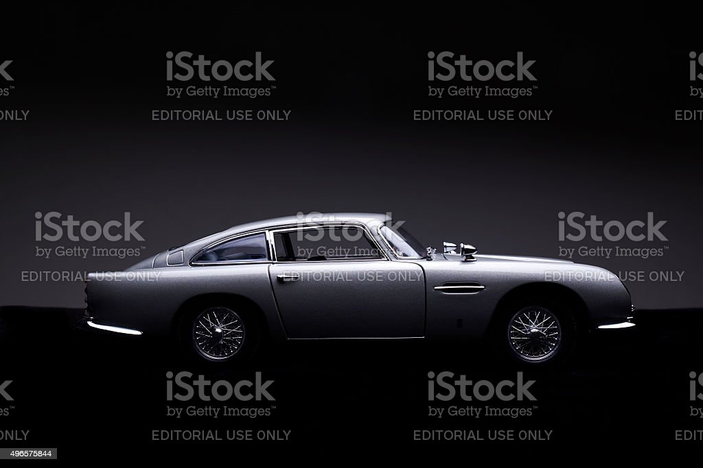 Aston Martin B5 Model Low Key Side View Stock Photo More Pictures