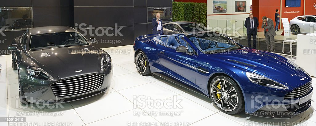 Aston Martin Stand stock photo