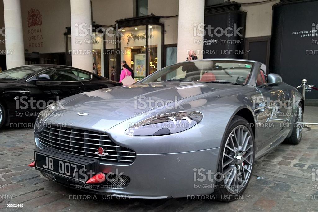 Aston Martin car at Bond in Motion exhibition stock photo