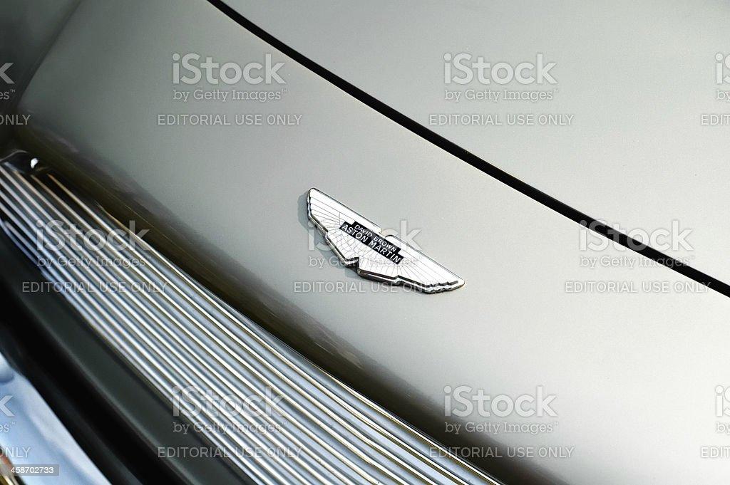 Aston Martin DB5 logo stock photo