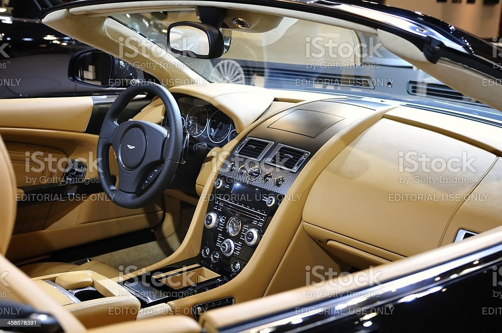 Aston Martin DB9 interior stock photo