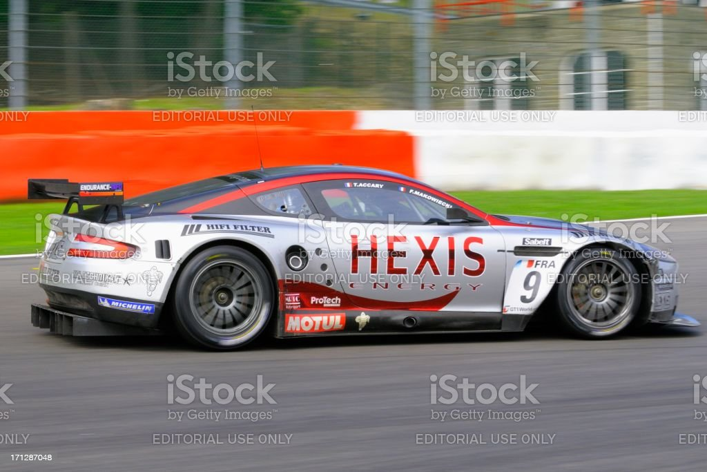 Aston Martin Dbr9 Race Car At The Race Track Stock Photo Download Image Now Istock