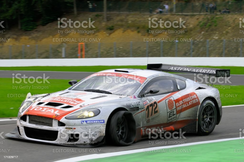 Aston Martin Dbrs9 Race Car At The Race Track Stock Photo Download Image Now Istock