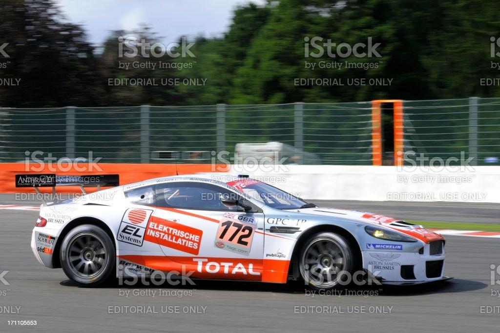 Aston Martin DBRS9 race car at the racing track stock photo