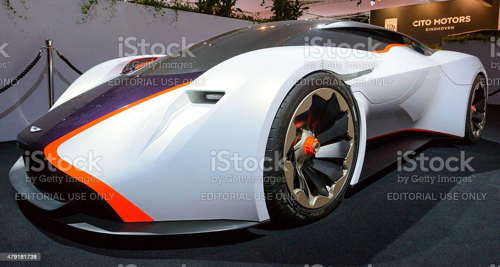 Aston Martin DP-100 Vision Gran Turismo concept car stock photo