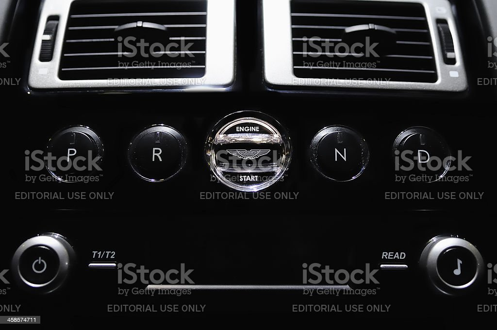 Aston Martin Engine Start stock photo