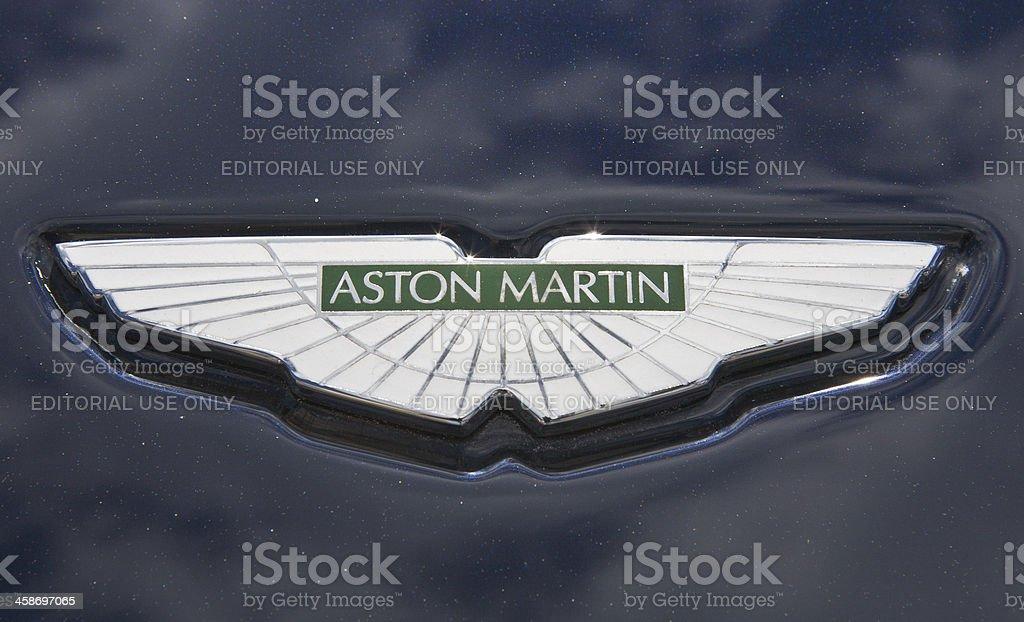 Aston Martin Hood Ornament Close Up stock photo