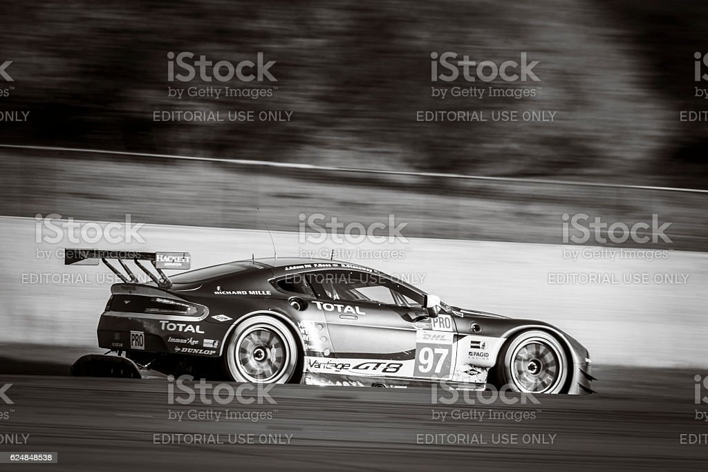 Aston Martin Racing Aston Martin Vantage V8 race car stock photo