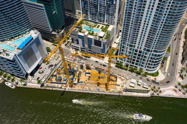Aston Martin Residences Downtown Miami construction site stages July 2019