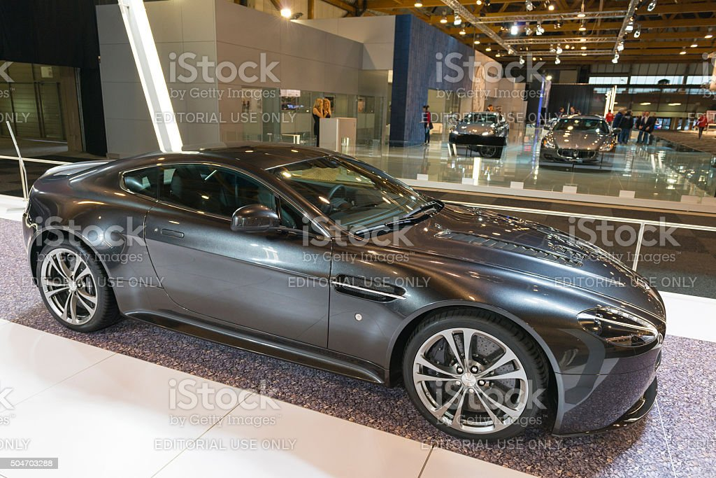 Aston Martin V12 Privilegiados S Sports Car Foto Royalty Free