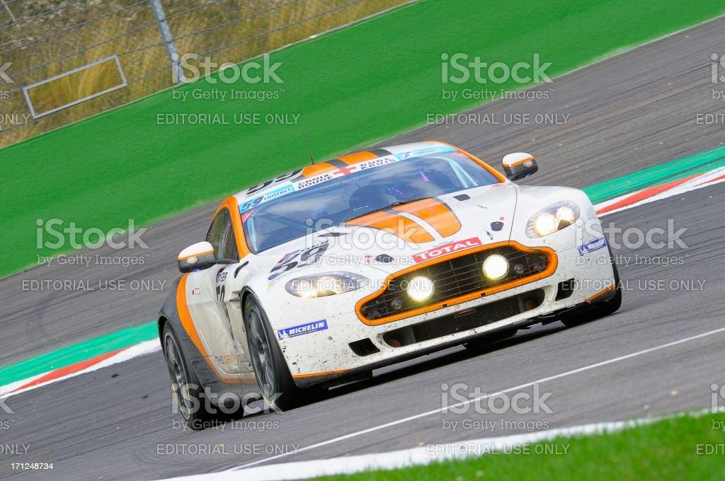 Aston Martin V8 Vantage GT4 race car royalty-free stock photo