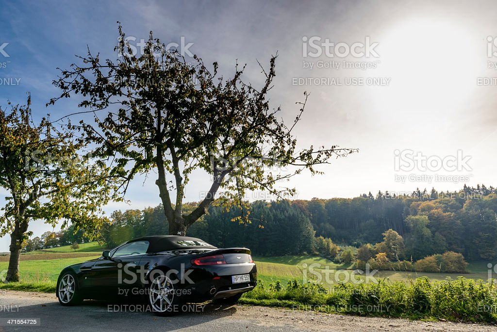 Aston Martin V8 Vantage stock photo