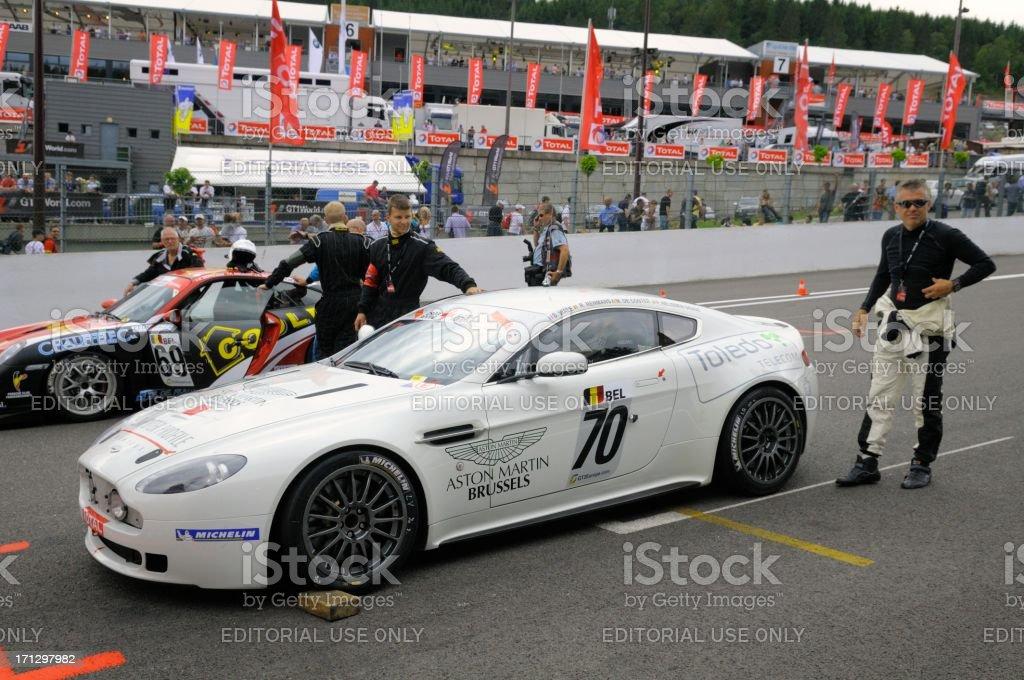 Aston Martin V8 Vantage race car stock photo