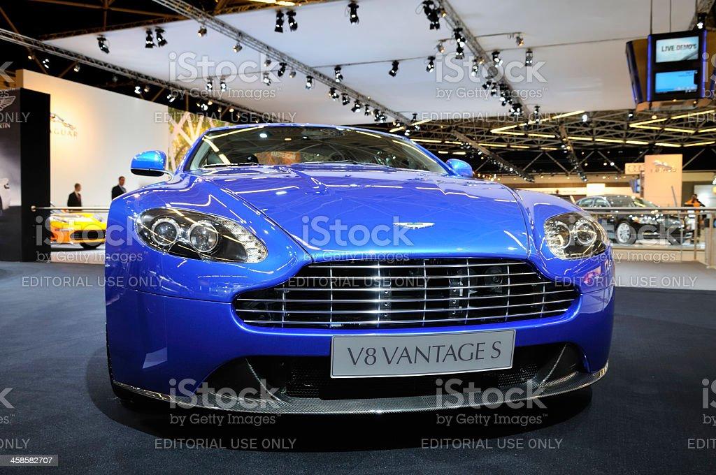 Aston Martin V8 Vantage sports car front view stock photo