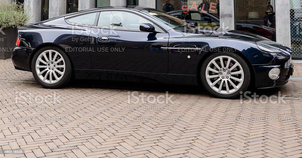 Aston Martin Vanquish British V12 sports car stock photo