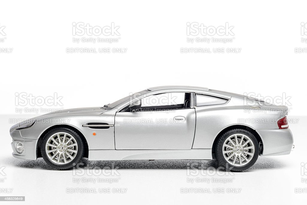 Aston Martin Vanquish model car stock photo