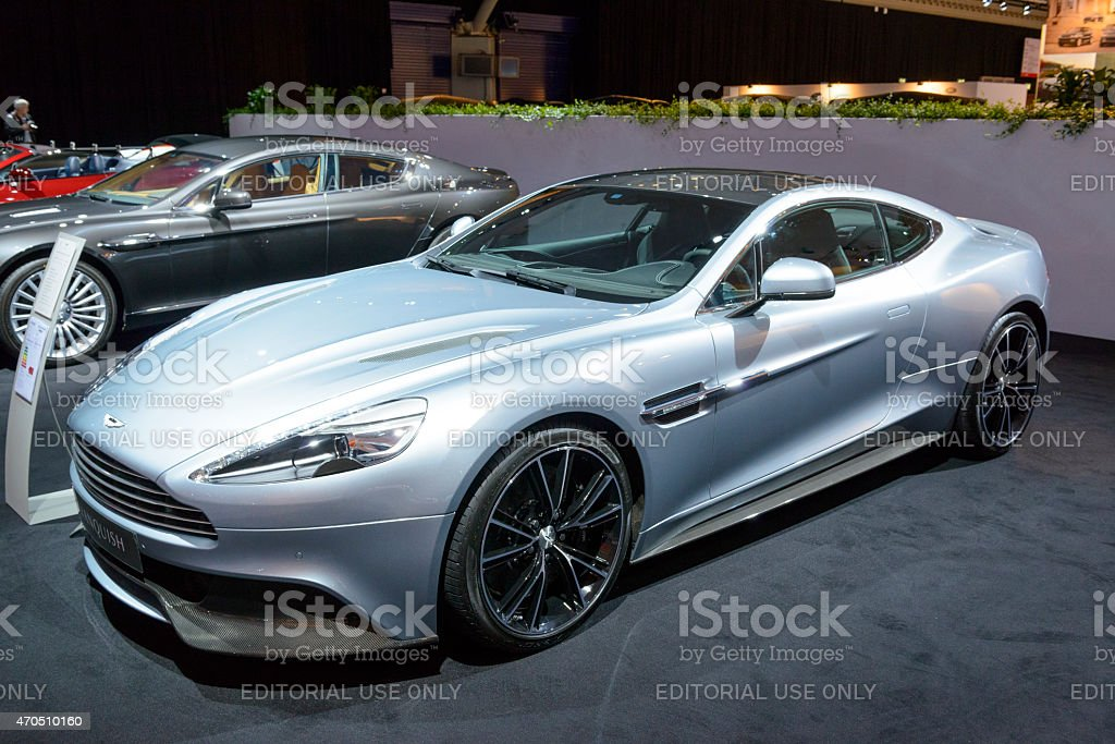 Aston Martin Vanquish sports car stock photo