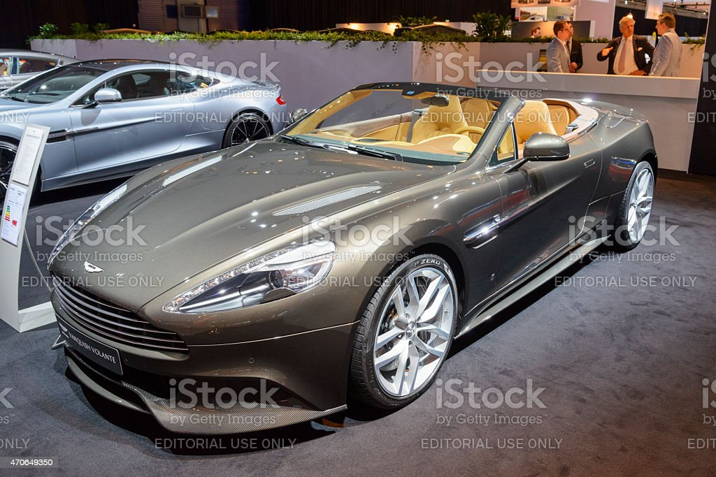 Aston Martin Vanquish Volante convertible sports car stock photo