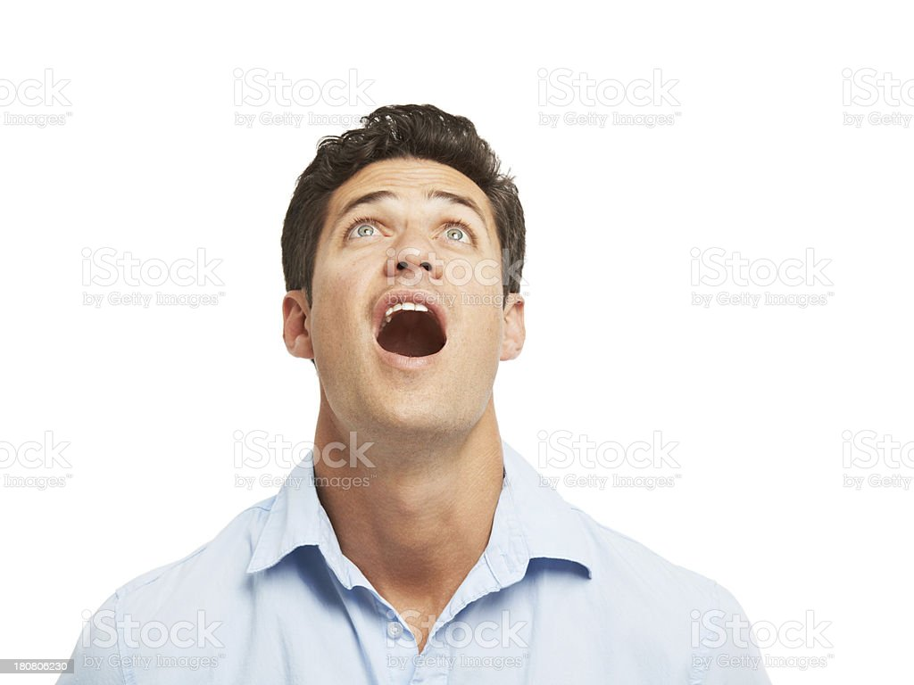Astonished! royalty-free stock photo