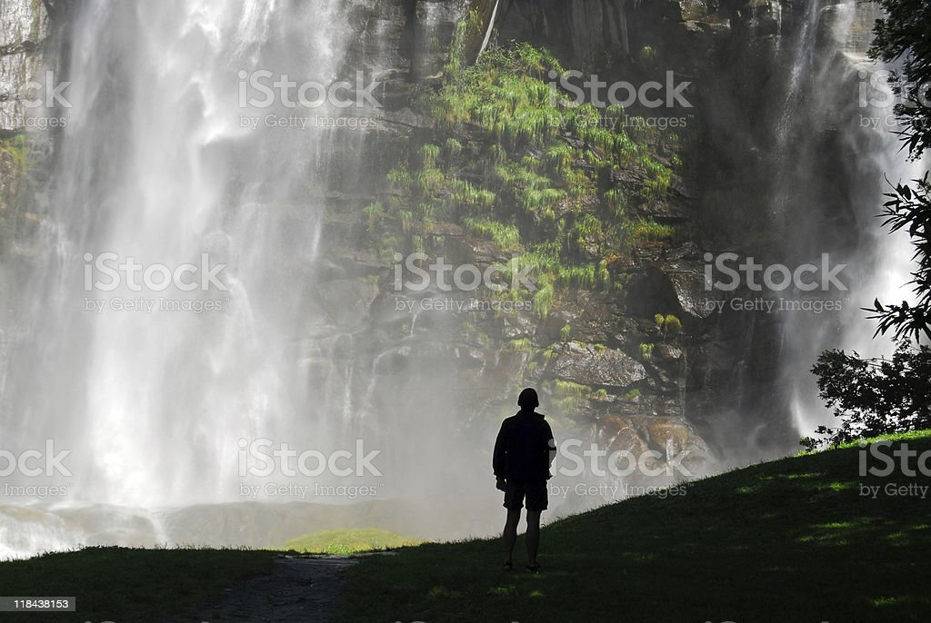Astonishing waterfall royalty-free stock photo