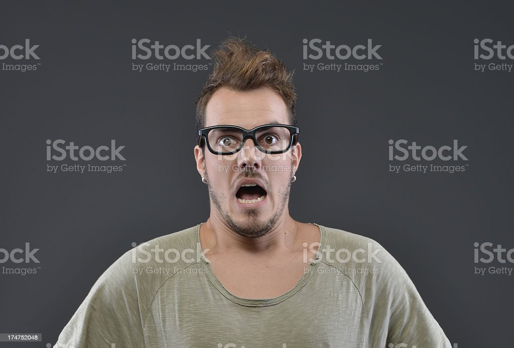 astonishment of man royalty-free stock photo