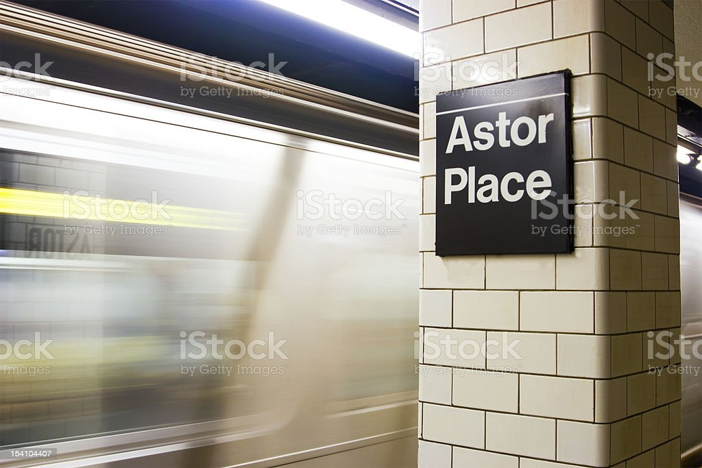 Astor Place Subway Station, NYC stock photo