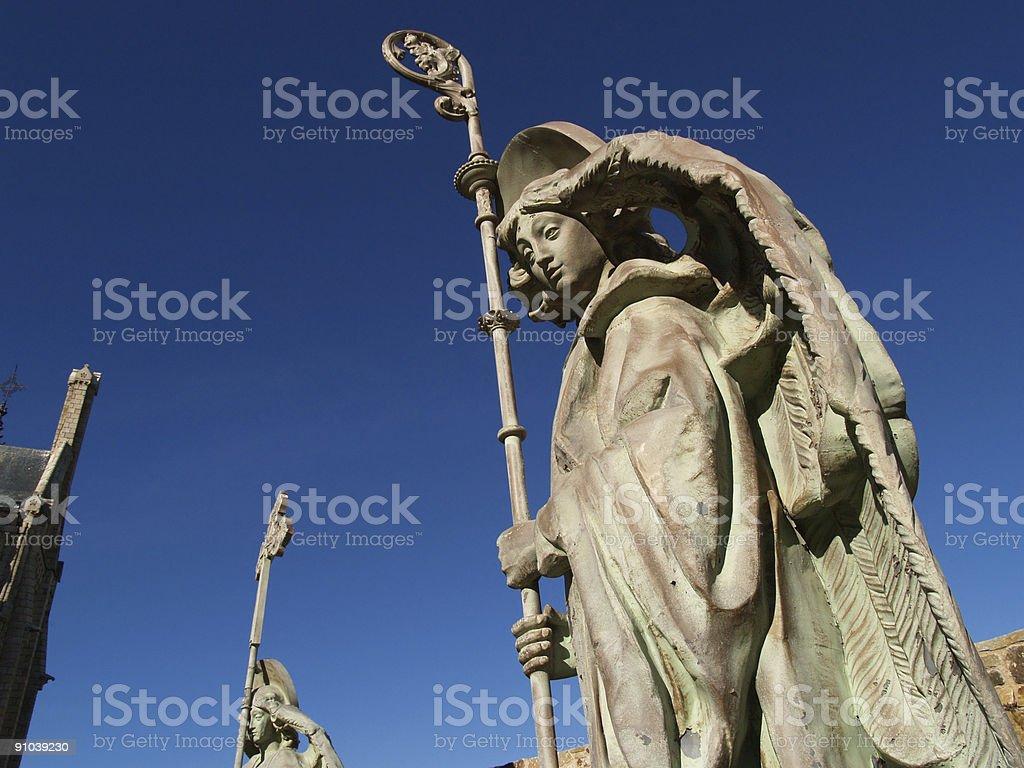 astorga episcopal palacio's angel - foto de stock