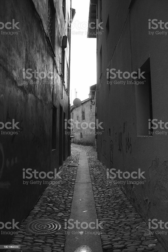 Astorga: Estrecha Street - foto de stock