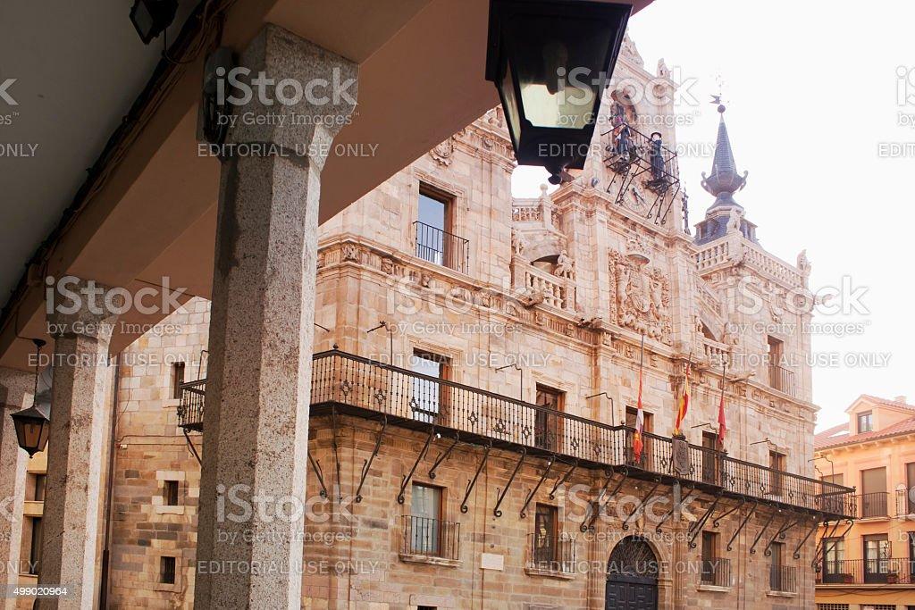 Astorga town hall y colonnade. - foto de stock