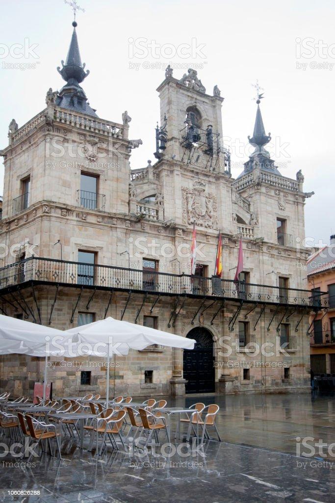 Astorga Ayuntamiento, provincia de León, España. - foto de stock
