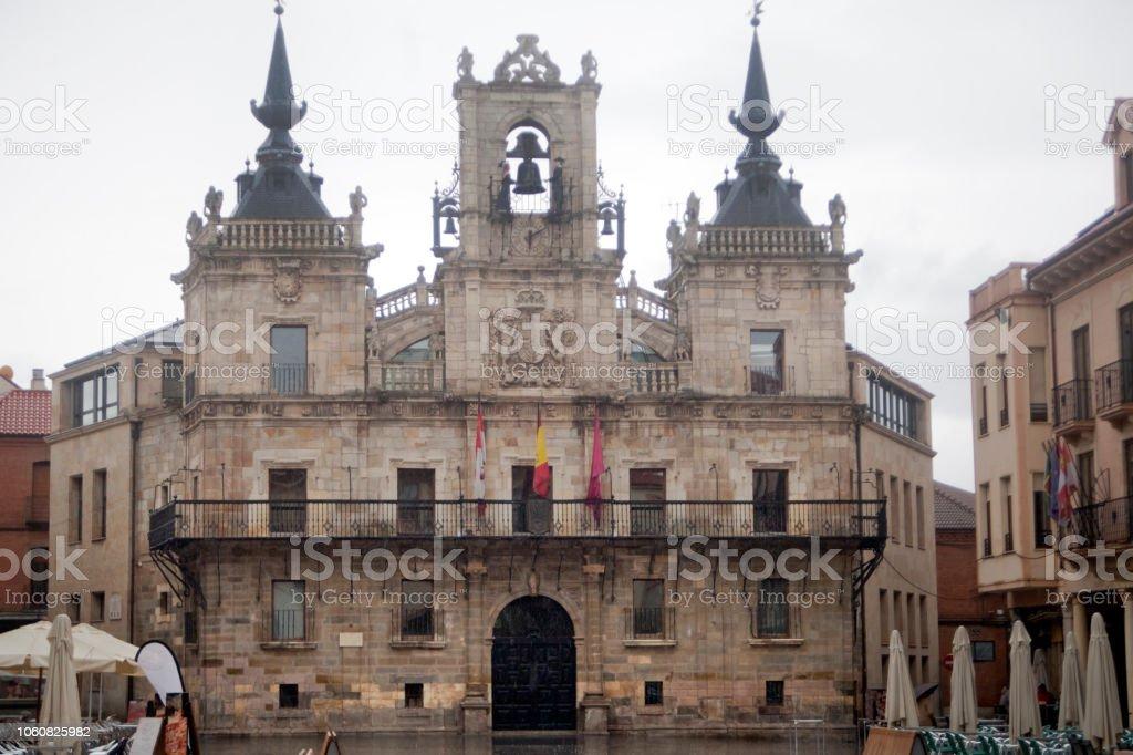 Ayuntamiento de Astorga, León, España. - foto de stock