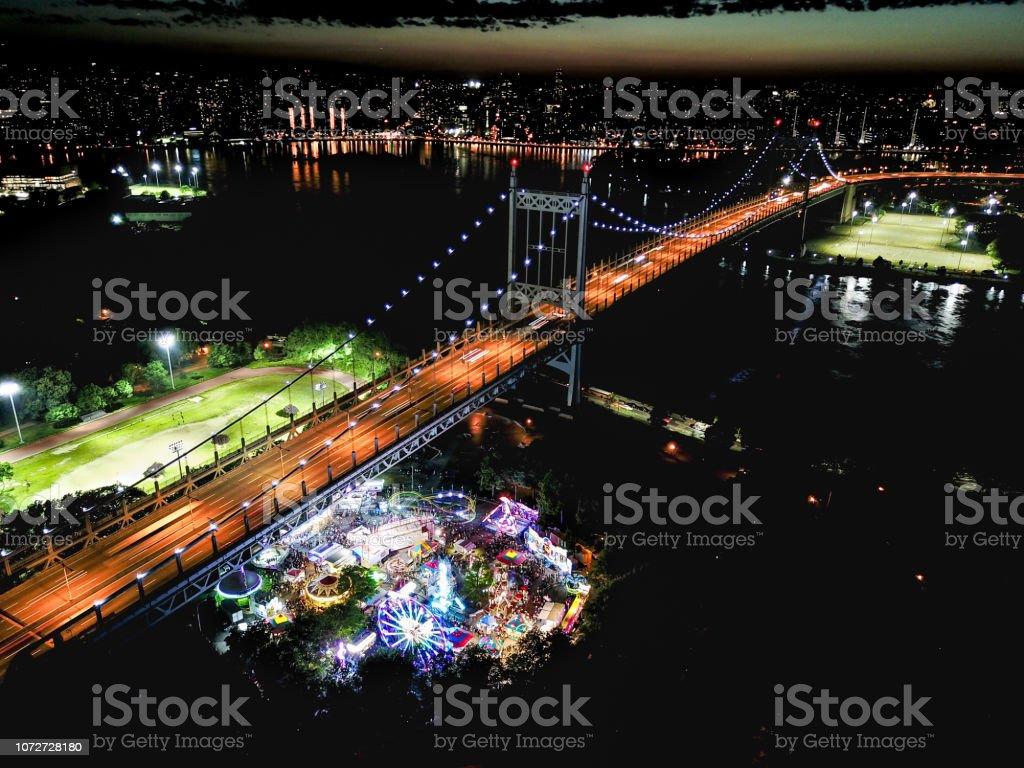Astoria Carnival at Astoria Park stock photo