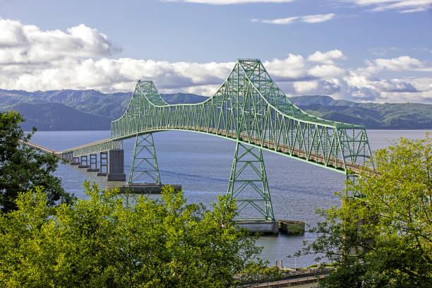 Astoria megler bridge in Astoria, Oregon. stock photo