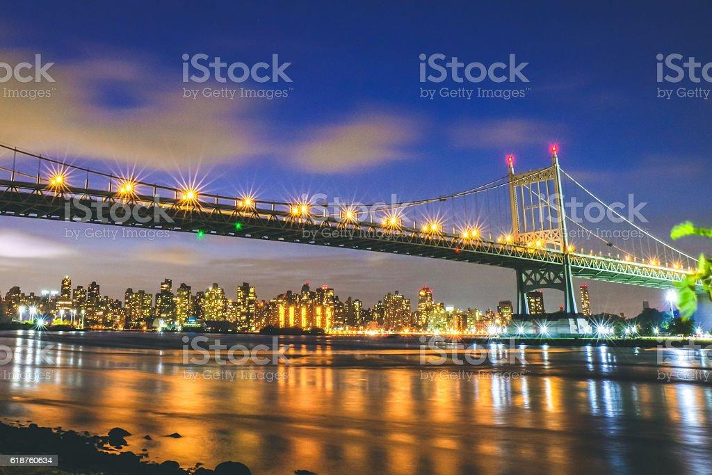 Astoria Queens Triboro Bridge stock photo