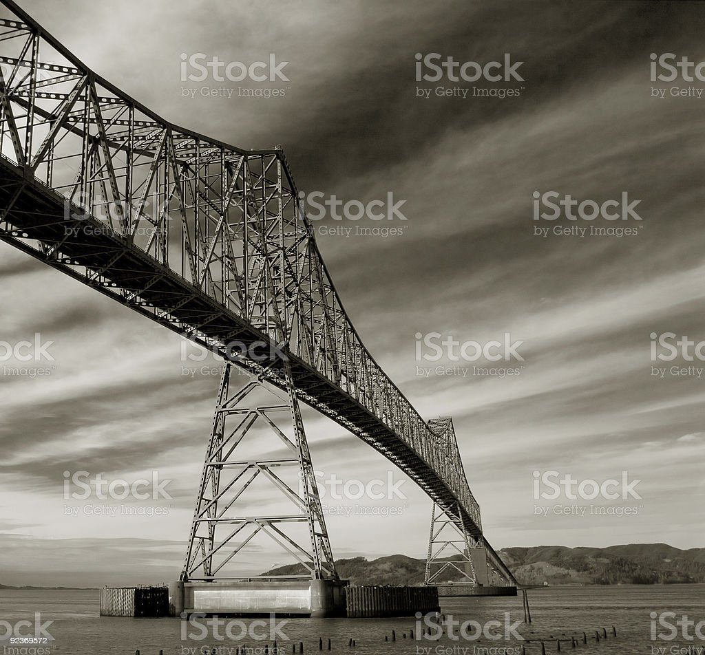 Astoria-Megler Bridge royalty-free stock photo