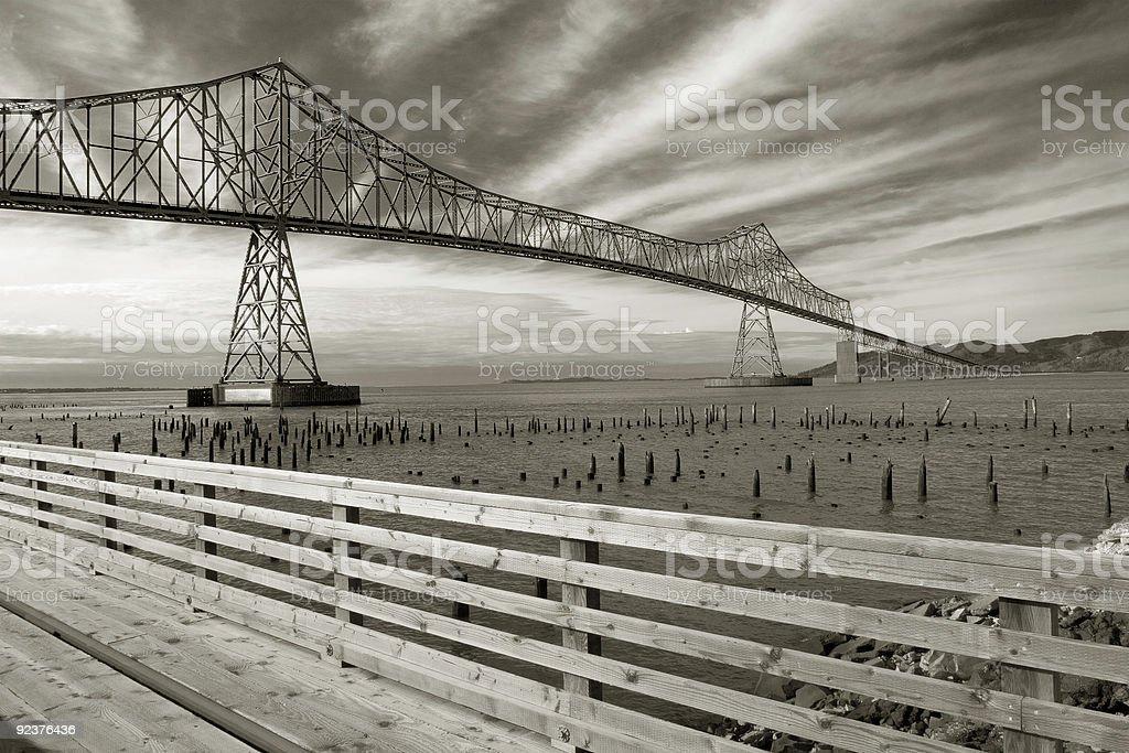 Astoria-Megler Bridge royalty-free stock photo