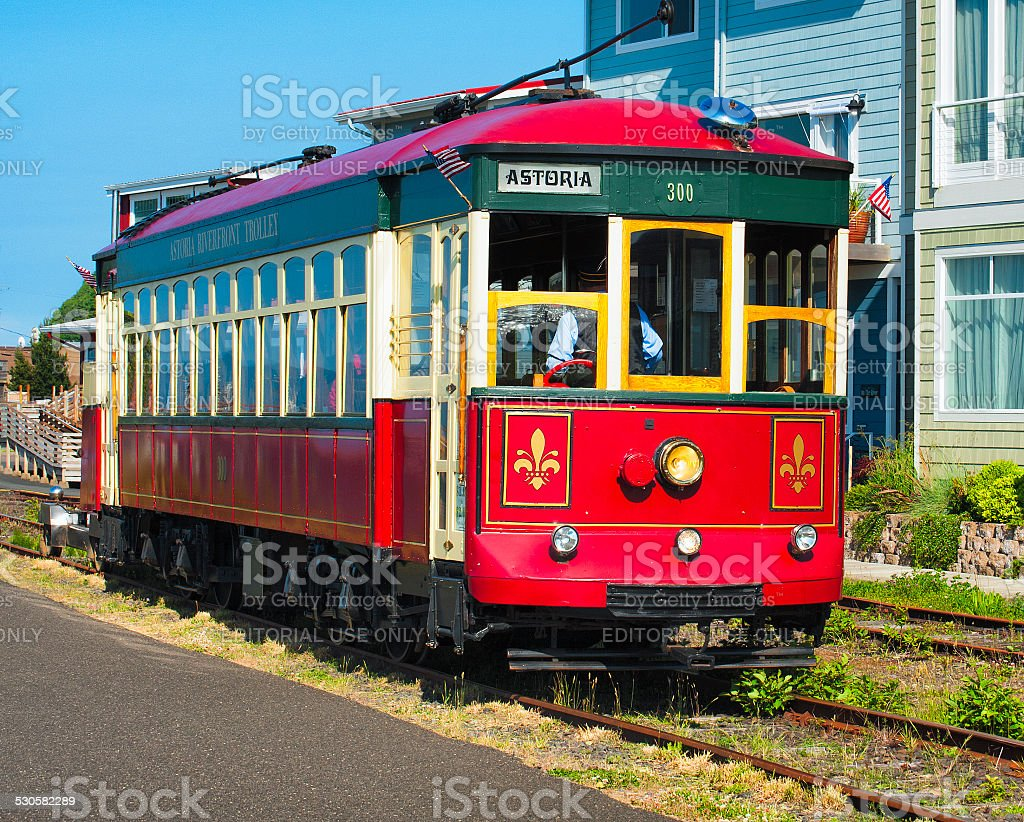 Astoria's Waterfront Trolley stock photo