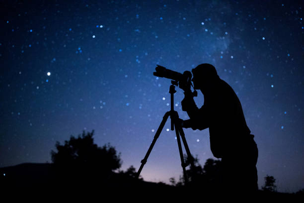 Astral photographer Astral photographer astronomy stock pictures, royalty-free photos & images