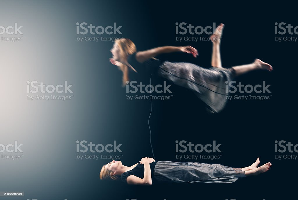 Astral Projection Silver Cord stock photo