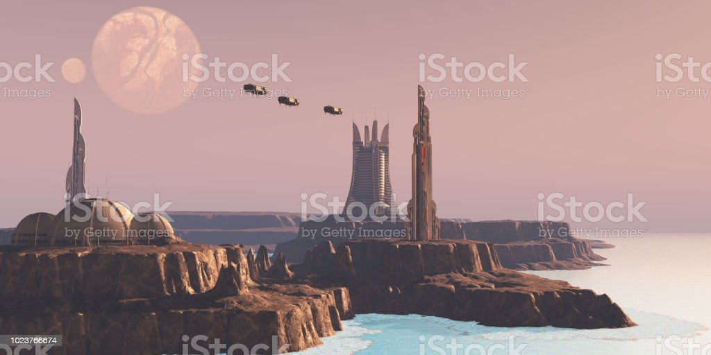 Astral Sector Planet stock photo
