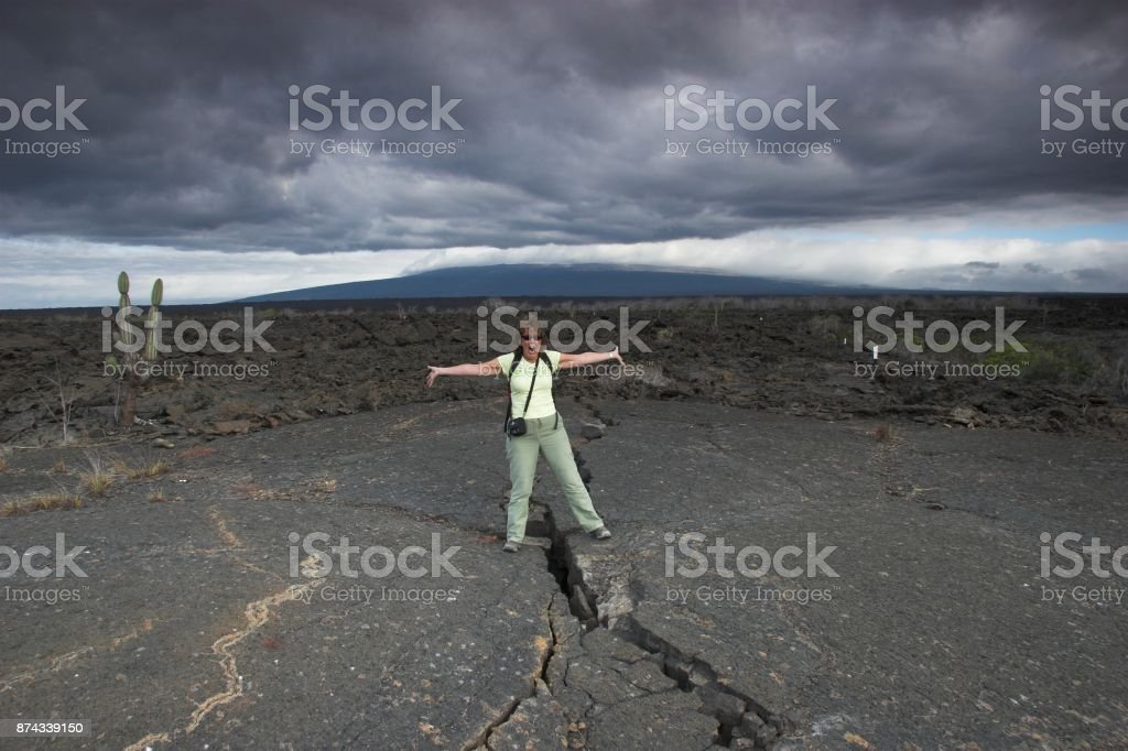 Astride the world stock photo