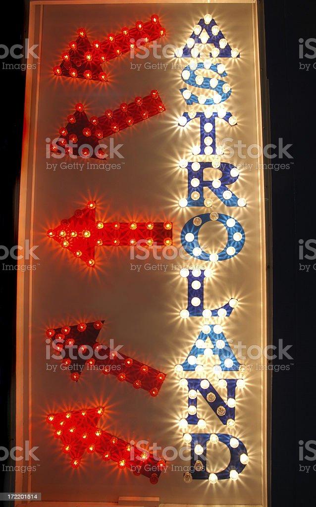 Astroland Retro Sign stock photo